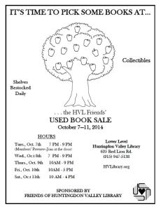 FOL Fall 2014 Booksale Flyer