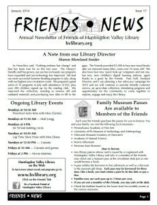 Friends2014NEwsletter