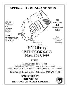 hvl book sale spring2016
