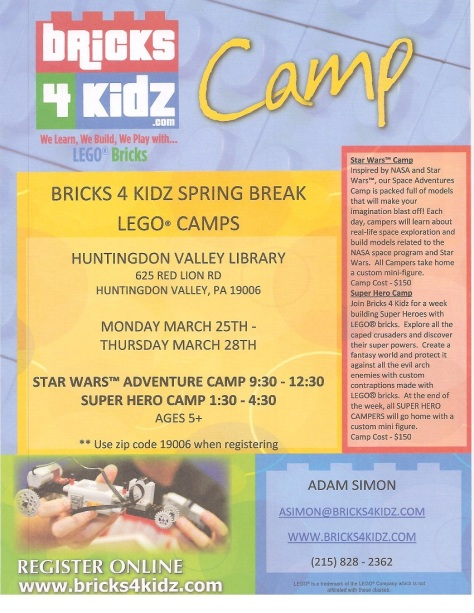 Bricks4Kidz Flyer