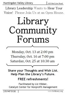 Library Community Forum Flyer