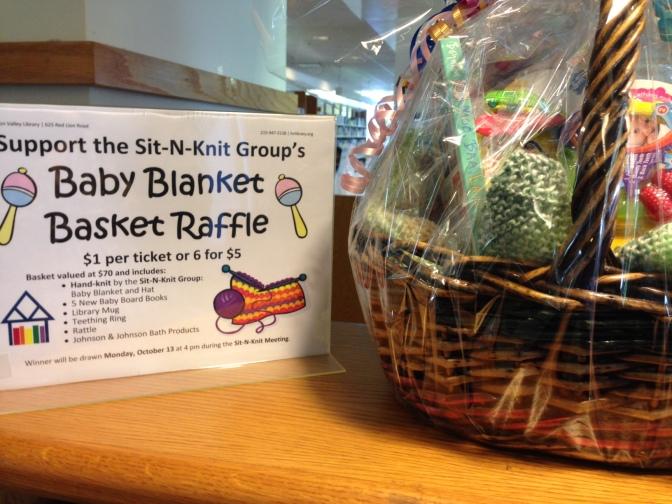 Sit-N-Knit Baby Blanket Basket Raffle