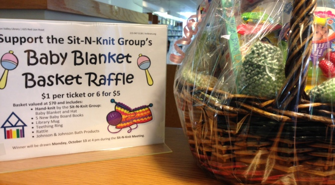 Sit-N-Knit Baby Blanket Basket Raffle