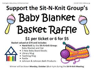 Sit N Knit Raffle Flyer