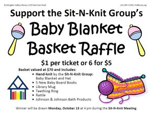 Sit N Knit Raffle Flyer