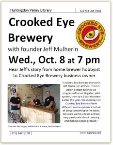 Crooked Eye Brewery Flyer