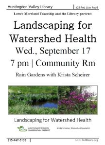 Landscaping for watershed