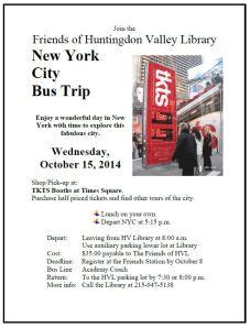 NYC Oct 14 Bus Trip