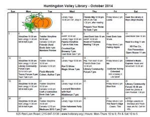 Oct 2014 Calendar