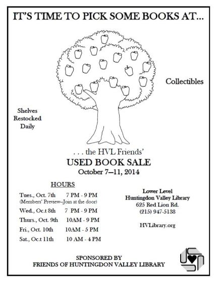Oct 2014 Friends Book Sale Flyer