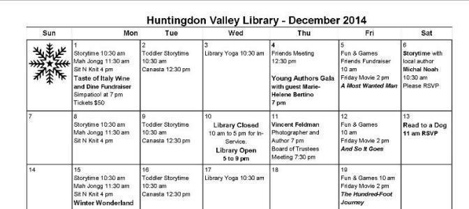 December 2014 Programs for All