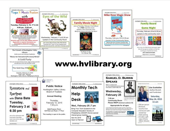 February 2015 Events and Programs