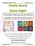 Feb 2015 Family Board game