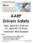 AARP flyer