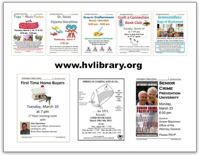 Spring Events at the Library