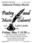 May 1 Open Mic for poets and musicians