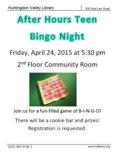 Teen bingo