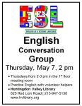 May 7 English conversationgroup