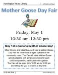 May 1 Mother Goose Day at 10:30 a