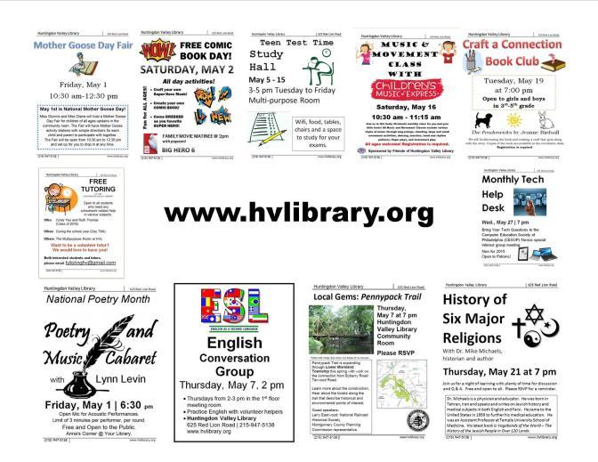 May 2015 Programs