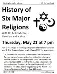 May 21 History lesson with Dr. Michaels