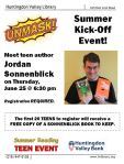 Teen Summer Reading Kick Off with Jordan Sonnenblick