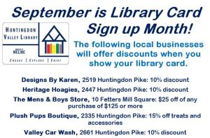 Library card sign up month2